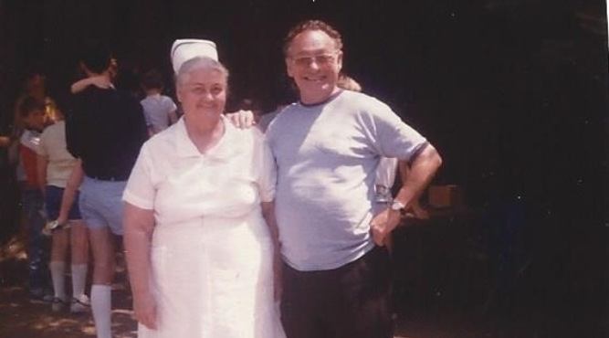 Frances Kalfus, RN And Spiro Bello – 1977